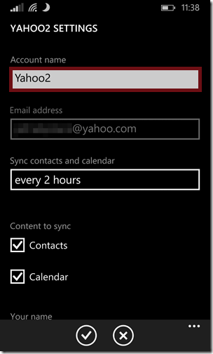 Sync Yahoo Contacts5